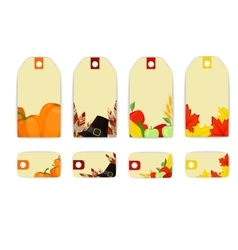 Label tag fall thanksgiving vector