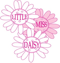 Little Miss Daisy vector image
