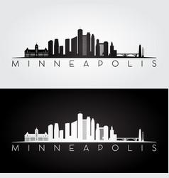 Minneapolis skyline silhouette vector