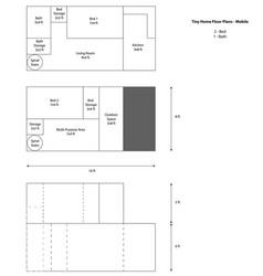 Mobile tiny house floor plan vector