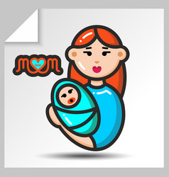 Mothers day icons 9 vector