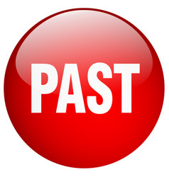 Past red round gel isolated push button vector
