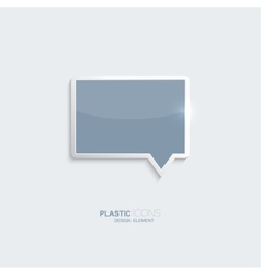 Plastic icon bubble speech symbol vector image vector image
