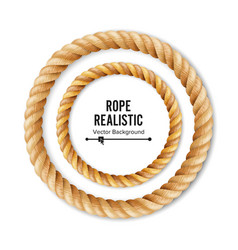 Realistic rope 3d circular rope isolated vector