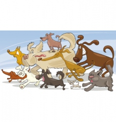 running dogs vector image vector image