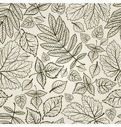 seamless grunge autumn leaves background thanksgiv vector image vector image