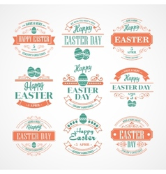 Set Easter Holiday typography vector image vector image