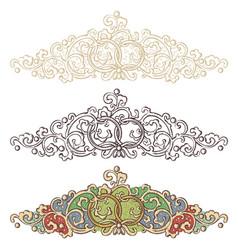 set of wedding renaissance borders vector image