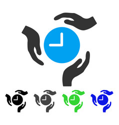 Time care hands flat icon vector