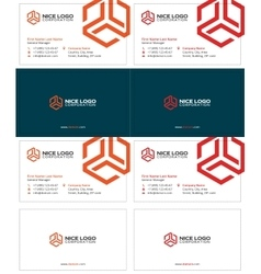 trio business card 2 vector image vector image