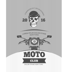 Vintage motorcycle world bikers festival race vector