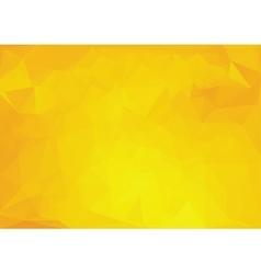 Yellow polygonal background vector image