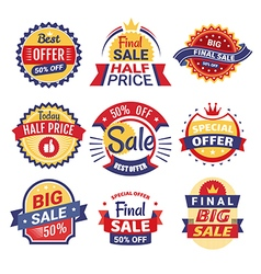 Set of sale tags badges and labels vector