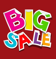Big Sale Colorful Sticker - Tag vector image