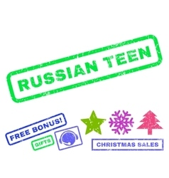 Russian teen rubber stamp vector