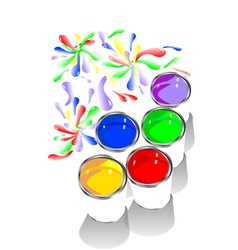 Colored paints vector