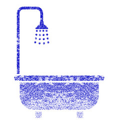 Shower bath grunge textured icon vector