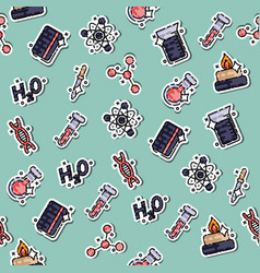Chemical industry concept icons pattern vector
