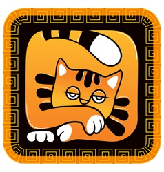 Chinese horoscope year of the cat vector
