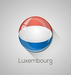 European flags set - luxembourg vector