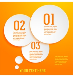 Page template presentation steps option circle vector