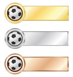 Soccer medals vector