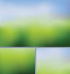 Blurred abstract nature background summer field vector