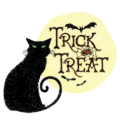 Trick or treat cat vector