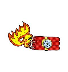 comic cartoon bomb symbol vector image