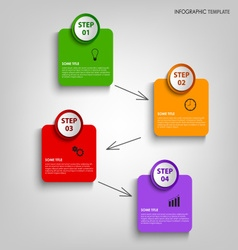 Info graphic with colorful design labels template vector
