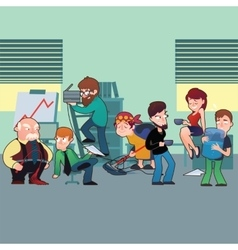 Funny characters of typical office staff set vector