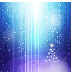blue light christmas vector image vector image