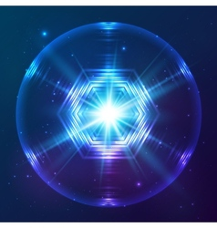 Cosmic shining abstract sphere vector image vector image