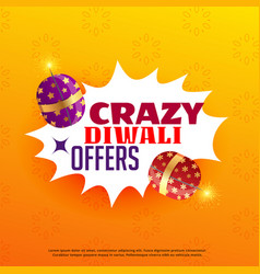 diwali sale and offers poster design with vector image