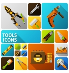 Diy Tools Icons vector image