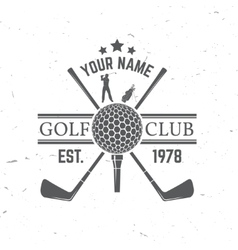 Golfing club concept with golf ball silhouette vector