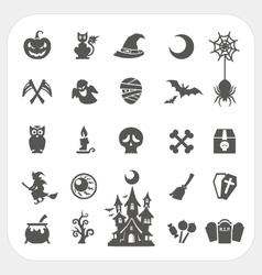 Halloween party icons set vector image