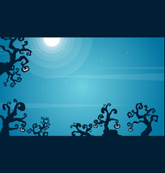 halloween scary background style collection vector image vector image