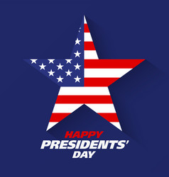 happy presidents day greeting card design vector image vector image