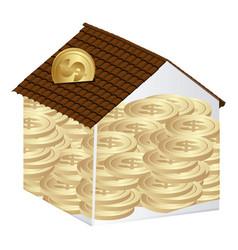 House save coins icon vector