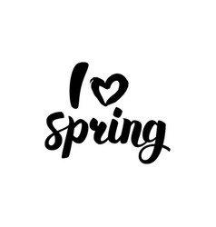 i love spring lettering vector image vector image
