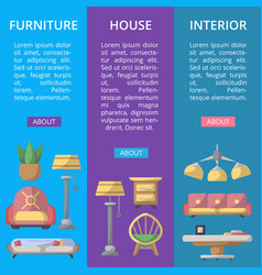 modern house furniture poster set vector image