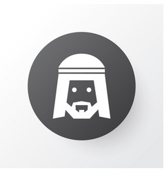 Muslim icon symbol premium quality isolated human vector