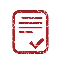 Red grunge yes document logo vector