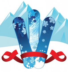 snowboards background vector image