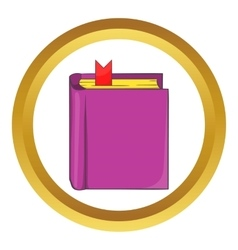Thick book with bookmark icon vector