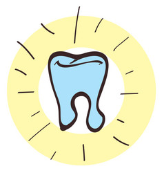 tooth icon with a black outline on a white vector image vector image