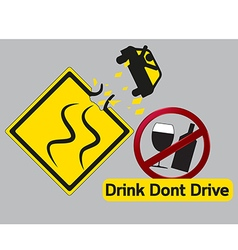 Concept idea drink dont and drive vector