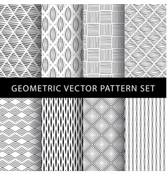 set of geometric pattern vector image