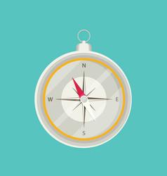 Compass icon web flat vector